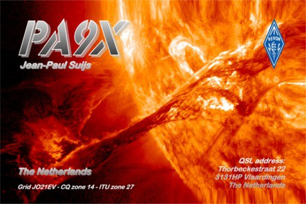 QSL card fork PA9X